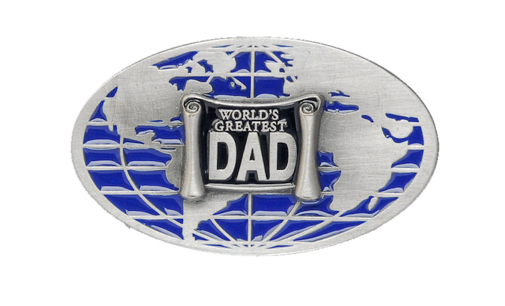 Worlds Greatest Dad Belt Buckle